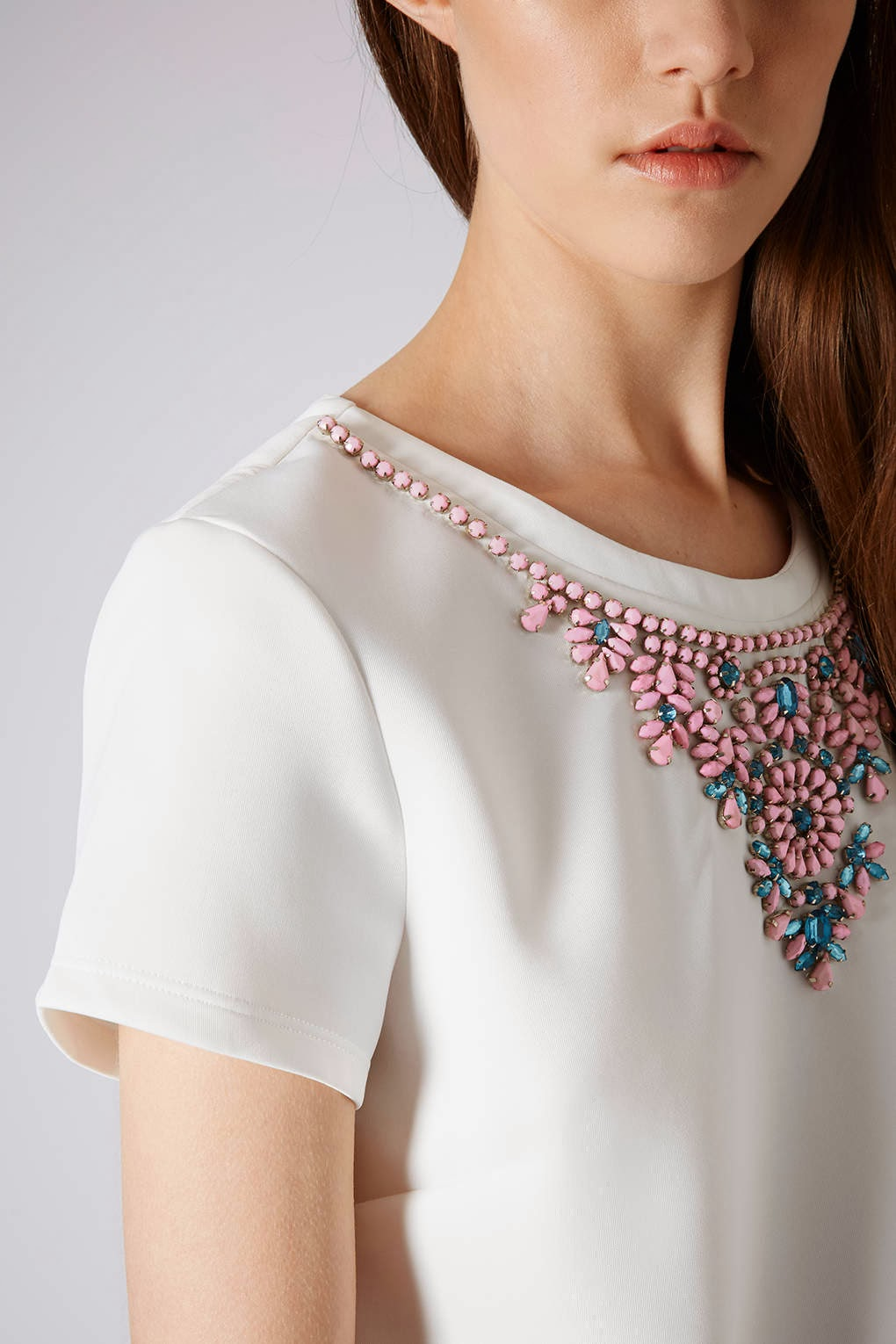 white jewel top