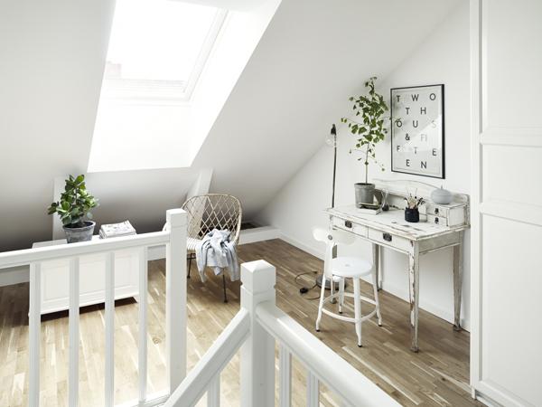 detalle dormitorio apartamento nórdico clásico
