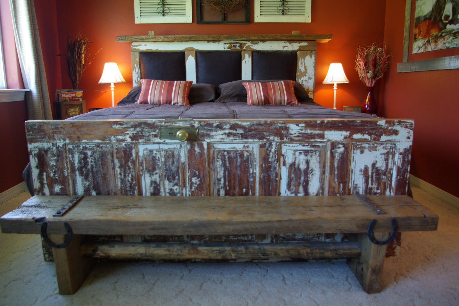 Reclaimed Rustics Vintage Door Headboard Foot Board