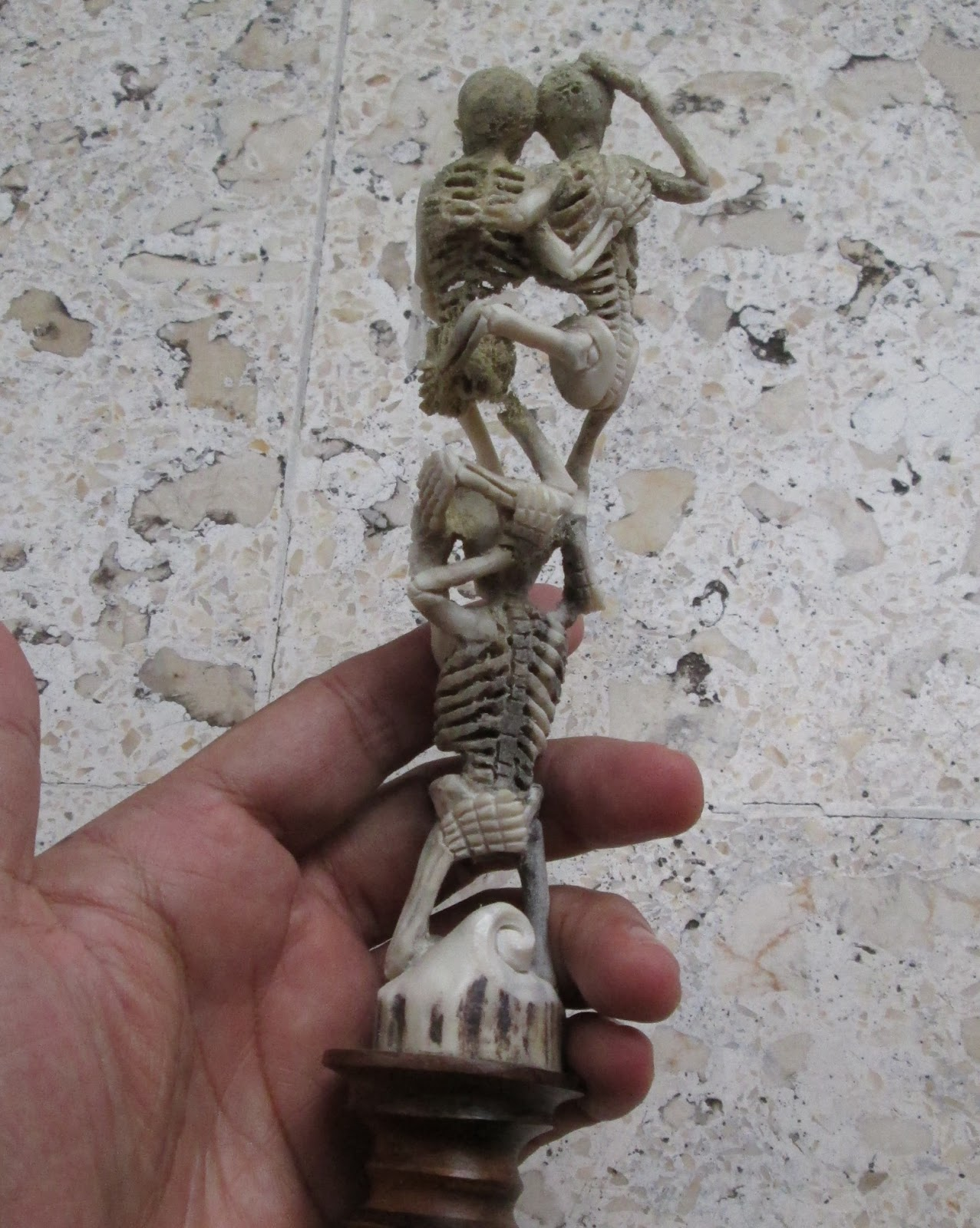 Skeleton Group Carving in Antler