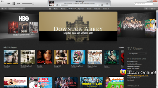 iTunes 11, iTunes Store, TV Shows