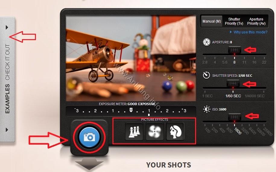 Học Chụp Ảnh Với Mô Hình Giả Lập Máy Ảnh DSLR Canon Online