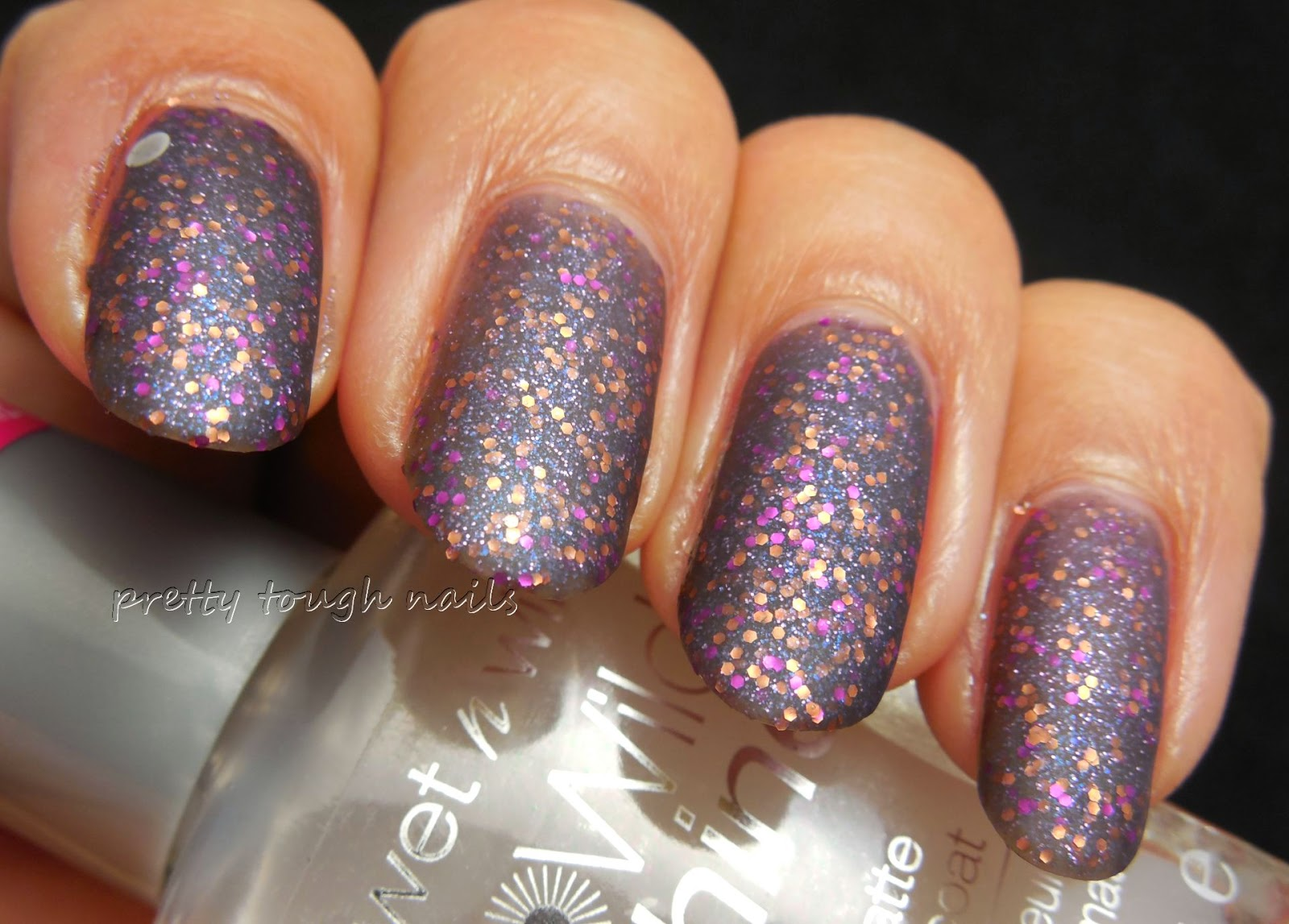 Orly Interglactic Space With Wet 'n' Wild Matte Topcoat