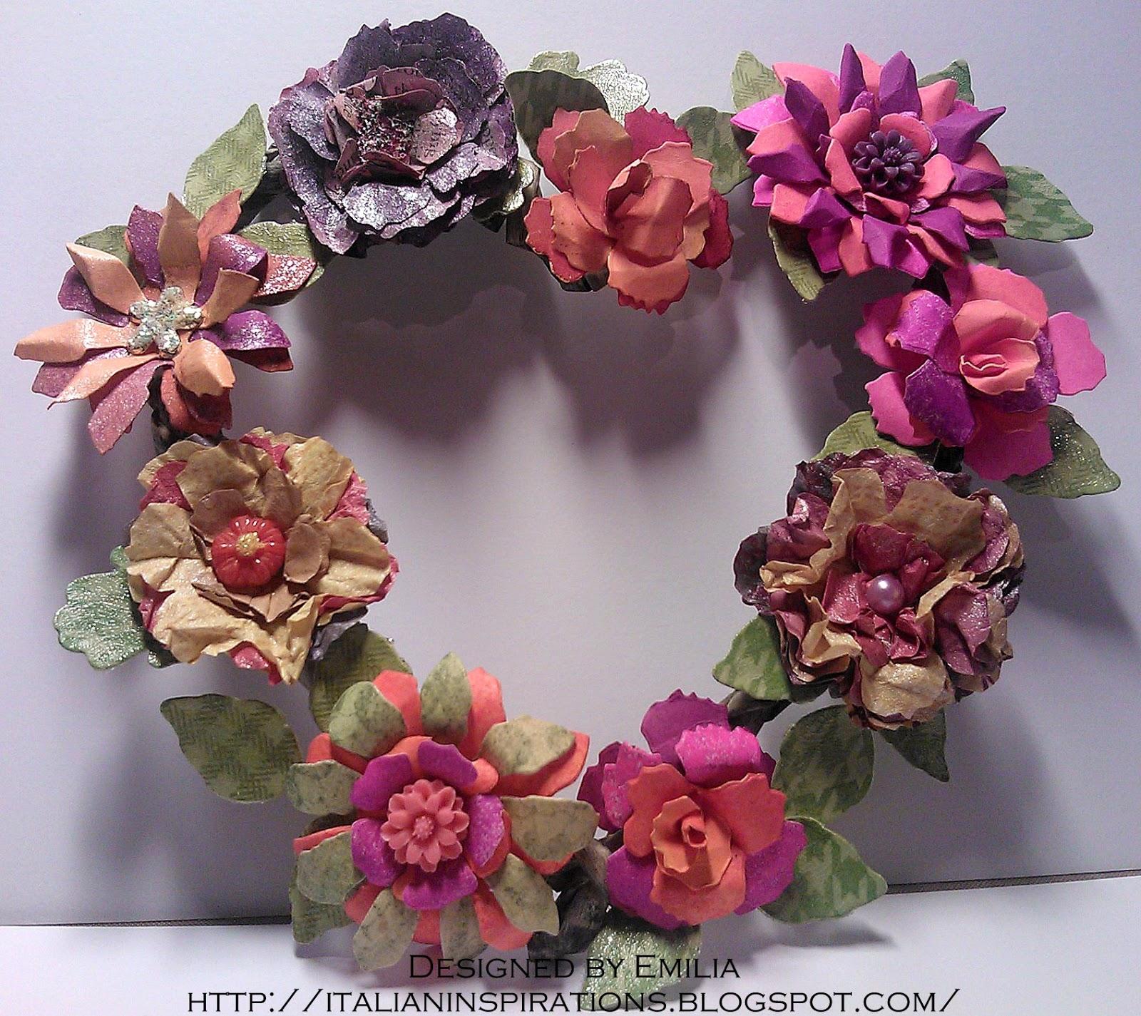 Emilia s Italian Inspirations Flower wreath