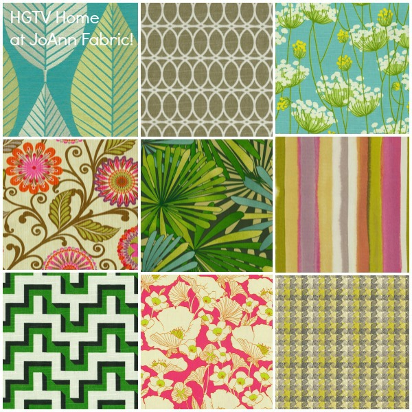 HGTV's new Home line of indoor/ outdoor fabric at JoAnn Craft!