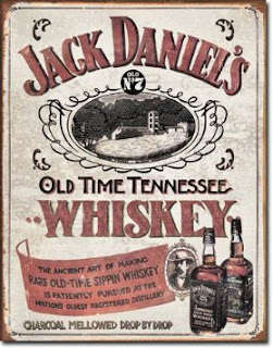 jack daniels whiskey distressed tin sign for man caves