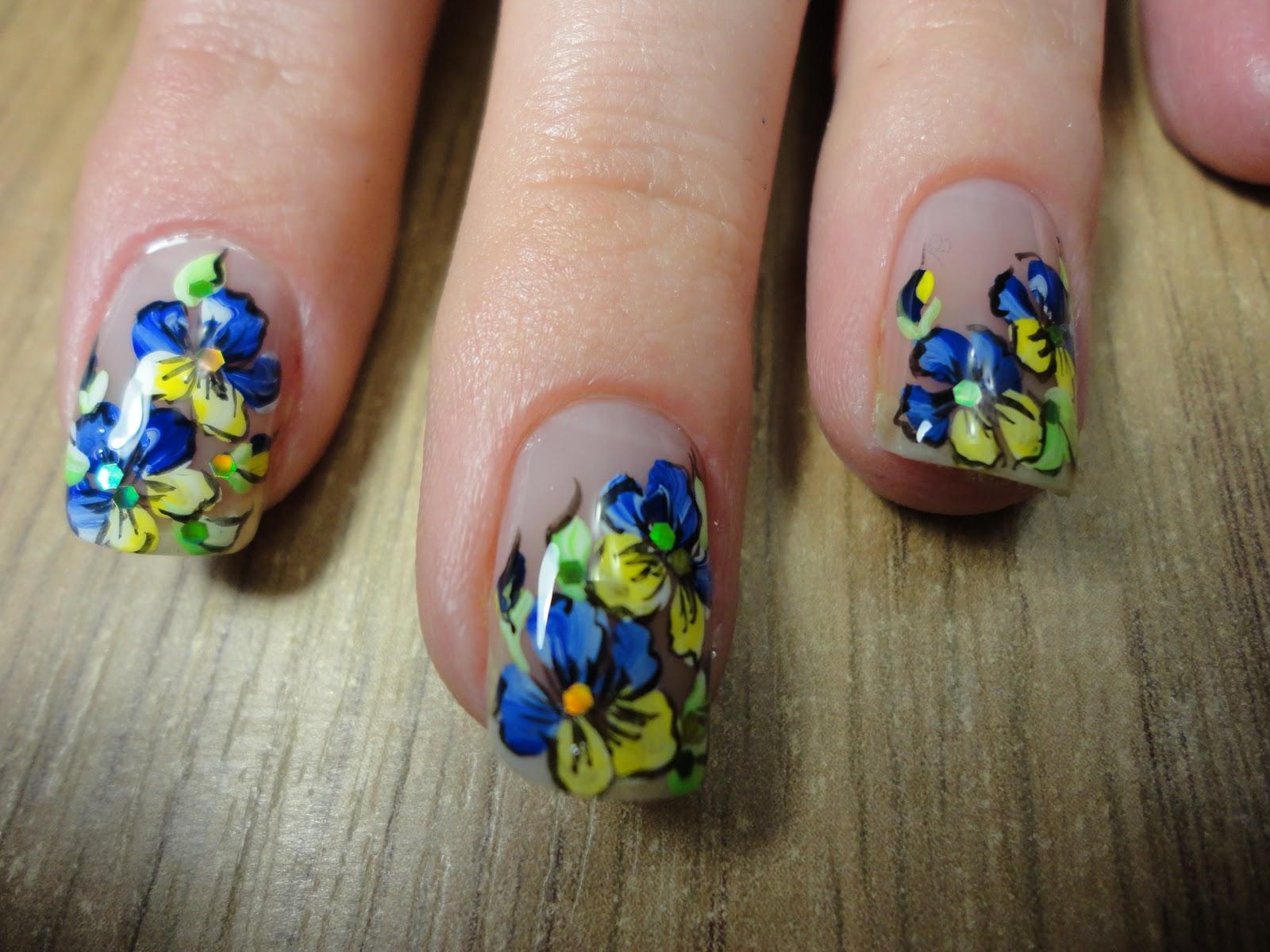 Маникюр рисунки на ногтях фото цветы