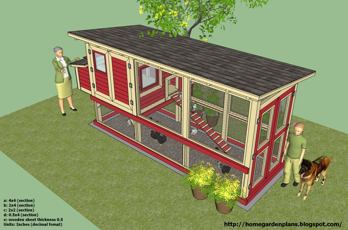 Hen 39 s free chicken coop plans for Free coop plans