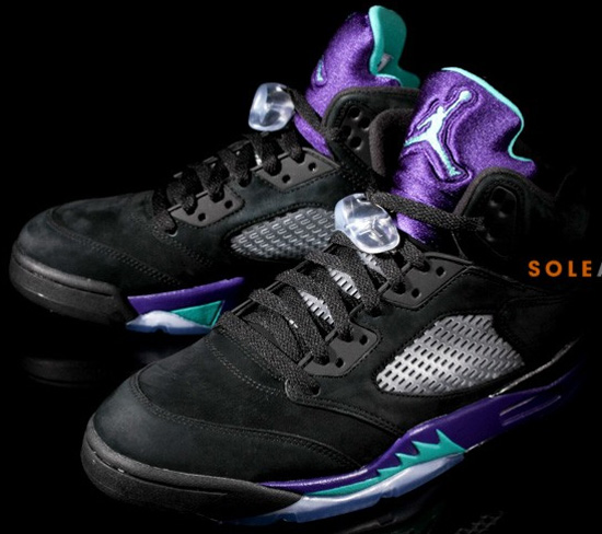 Retro 5 Grapes Black White Grape Air Jordan 5 Retro