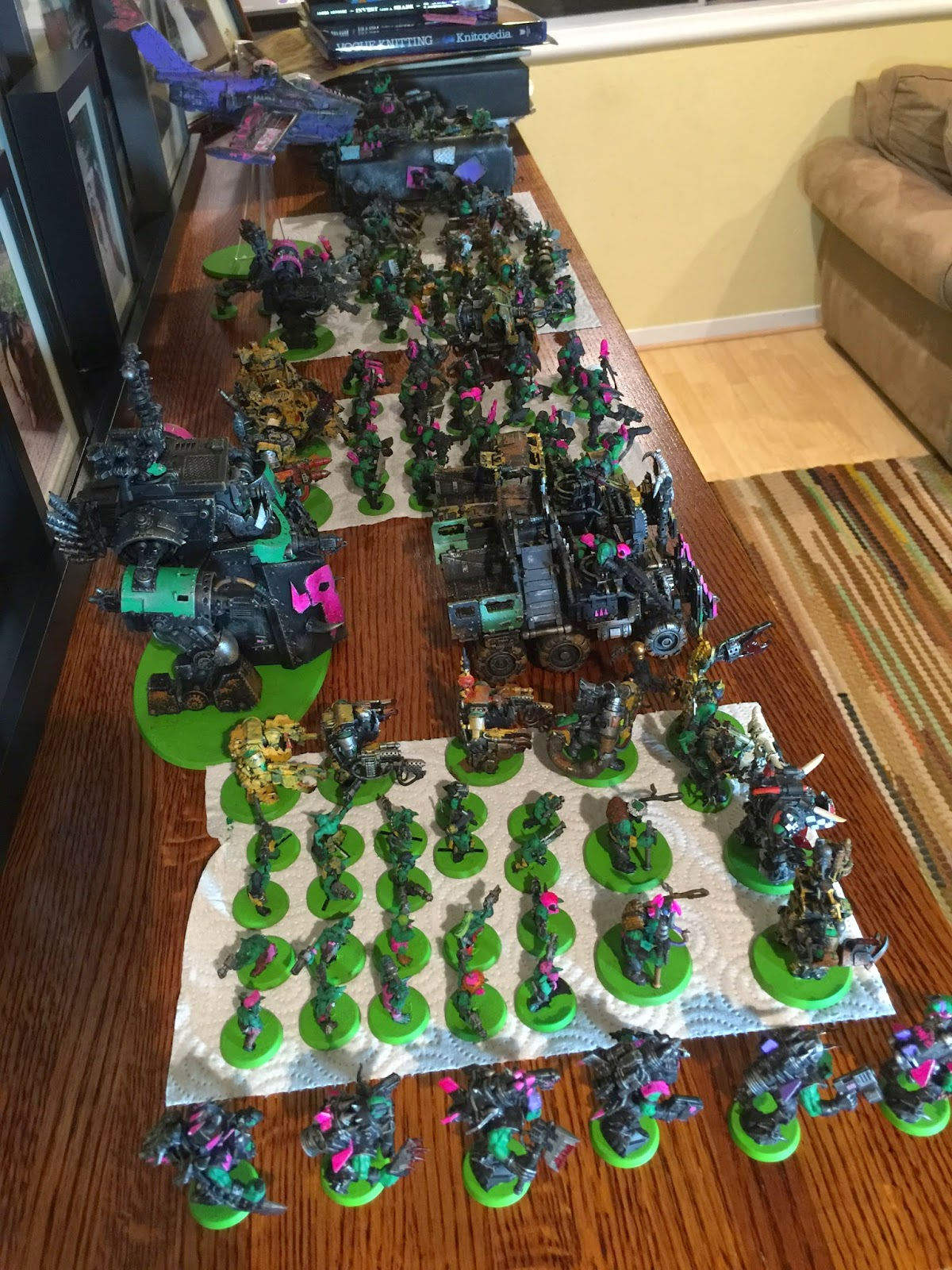 Pink Orks, Green Tide, Battle Gaming One