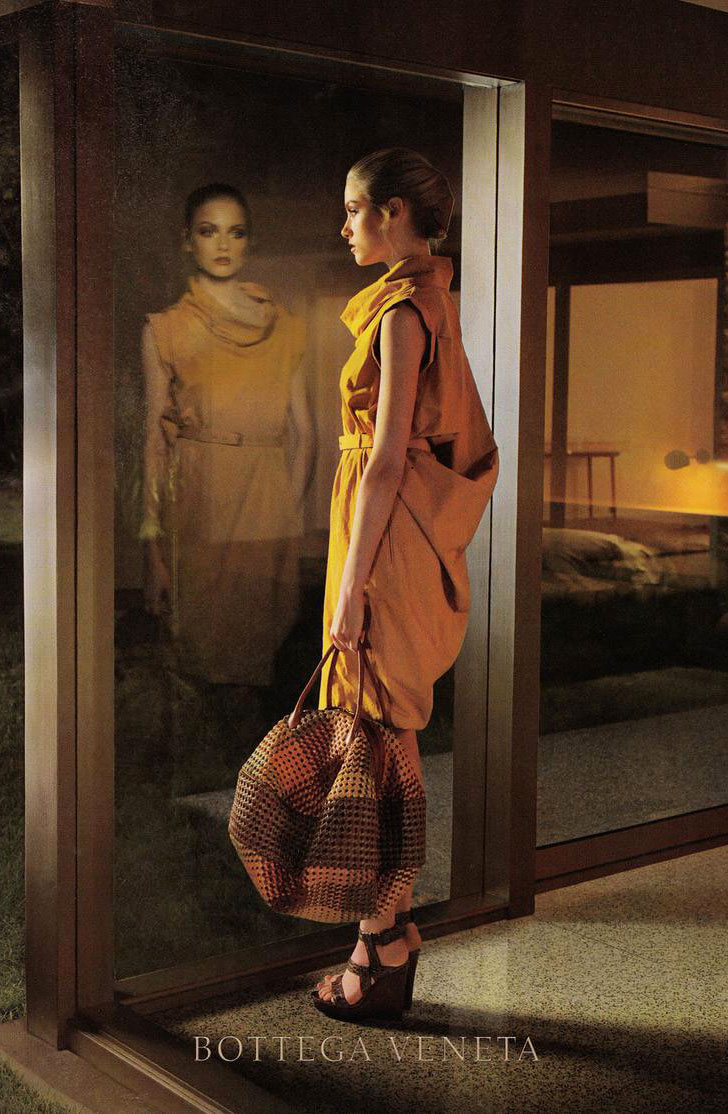 via fashioned by love | Emma Maclaren photographed by Larry Sultan for Bottega Veneta Fall/Winter 2009 campaign