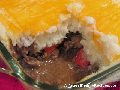 Shepherd's Pie with Red Bell Peppers at FrugalFamilyRecipes