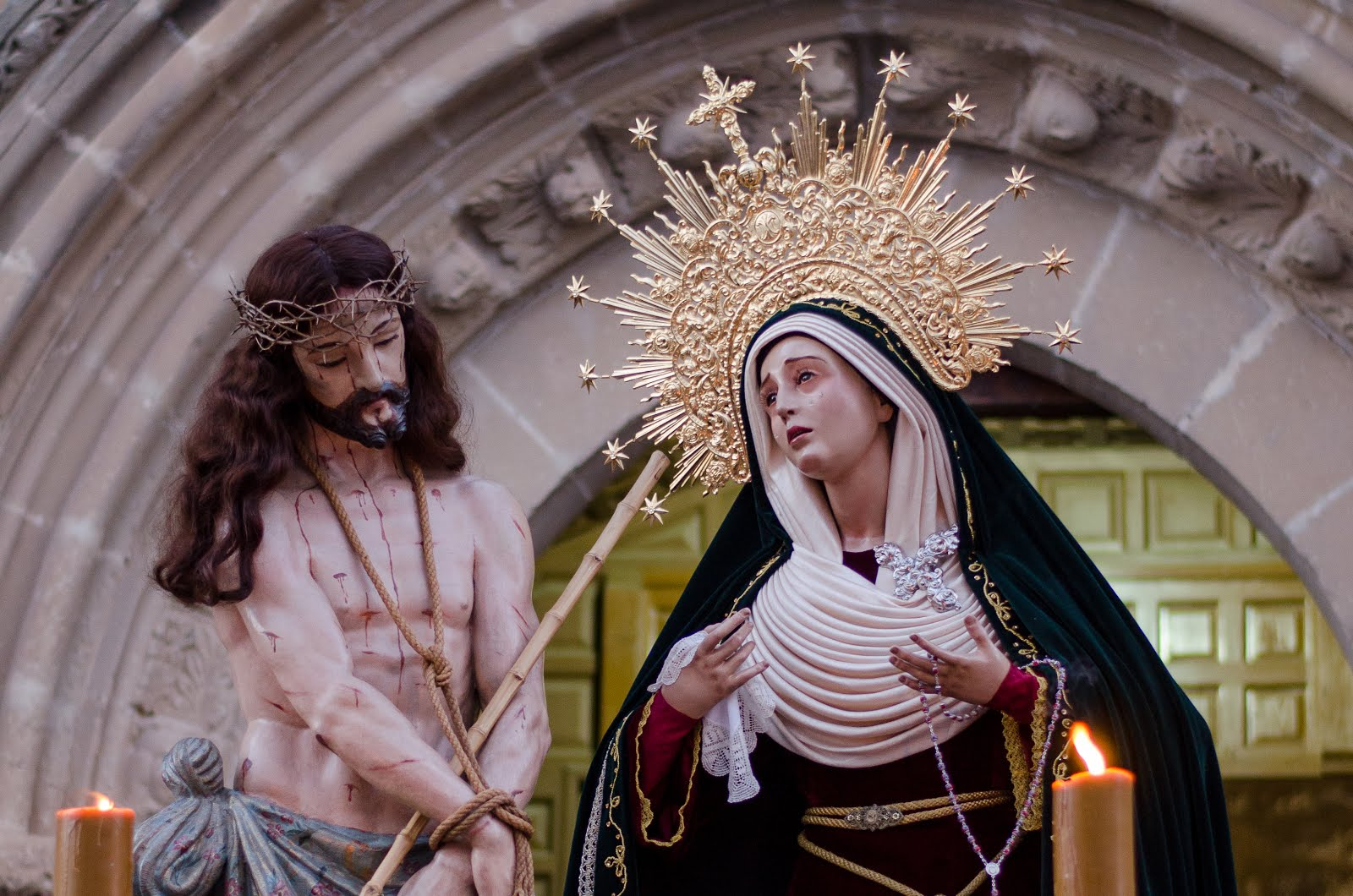 Tarde de Jueves Santo en Baeza
