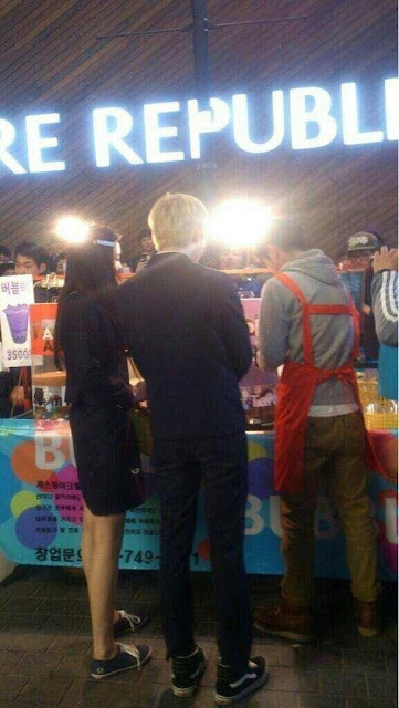Taemin and Na Eun filming We Got Married 130430_ 2