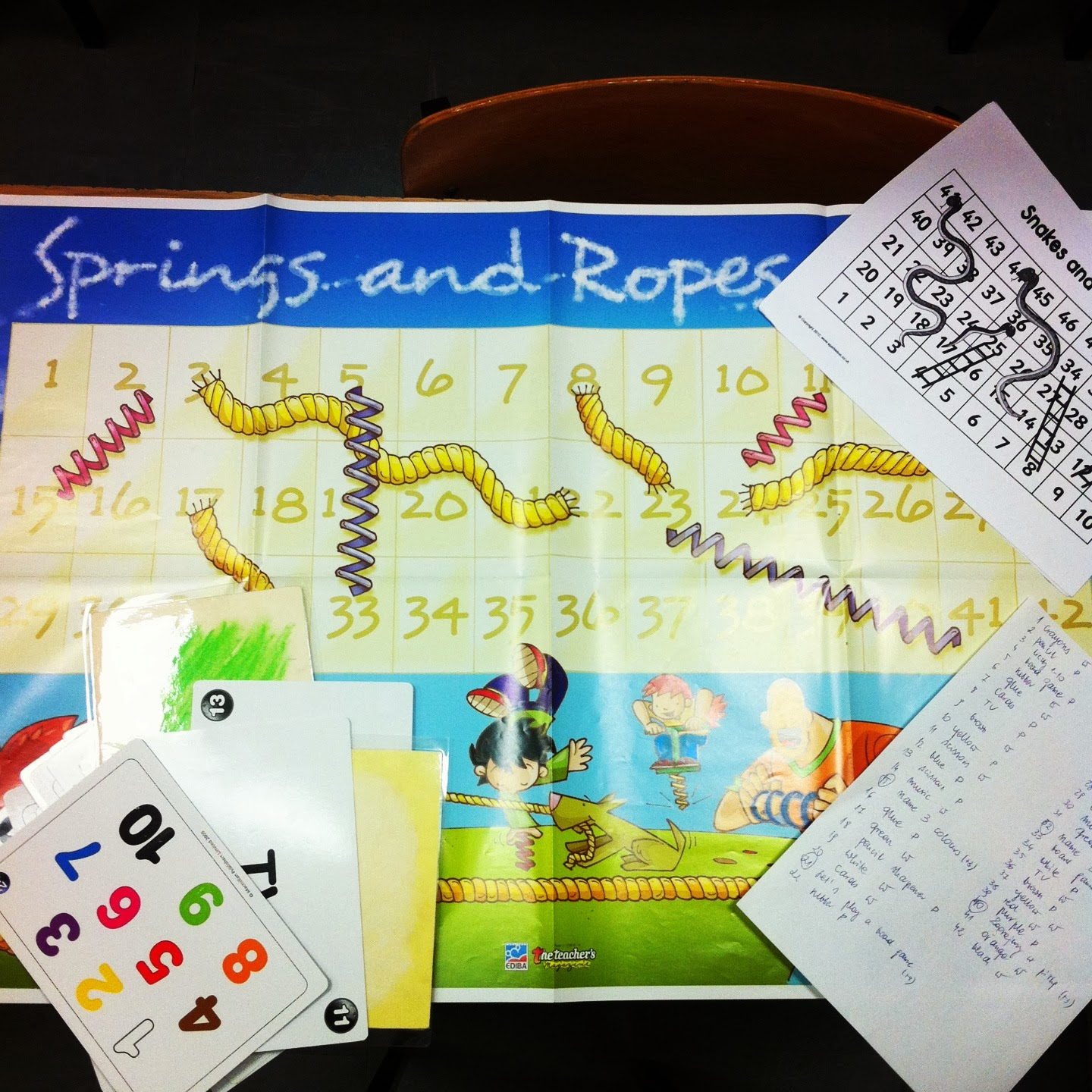 springs&ropes board game