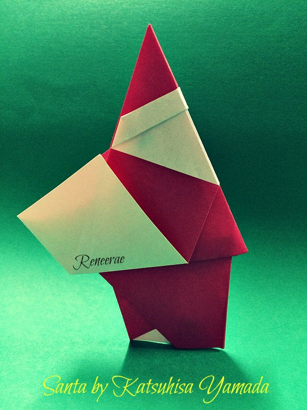 Lifes Simple Pleasure Origami Creations More Simple Santa Origami