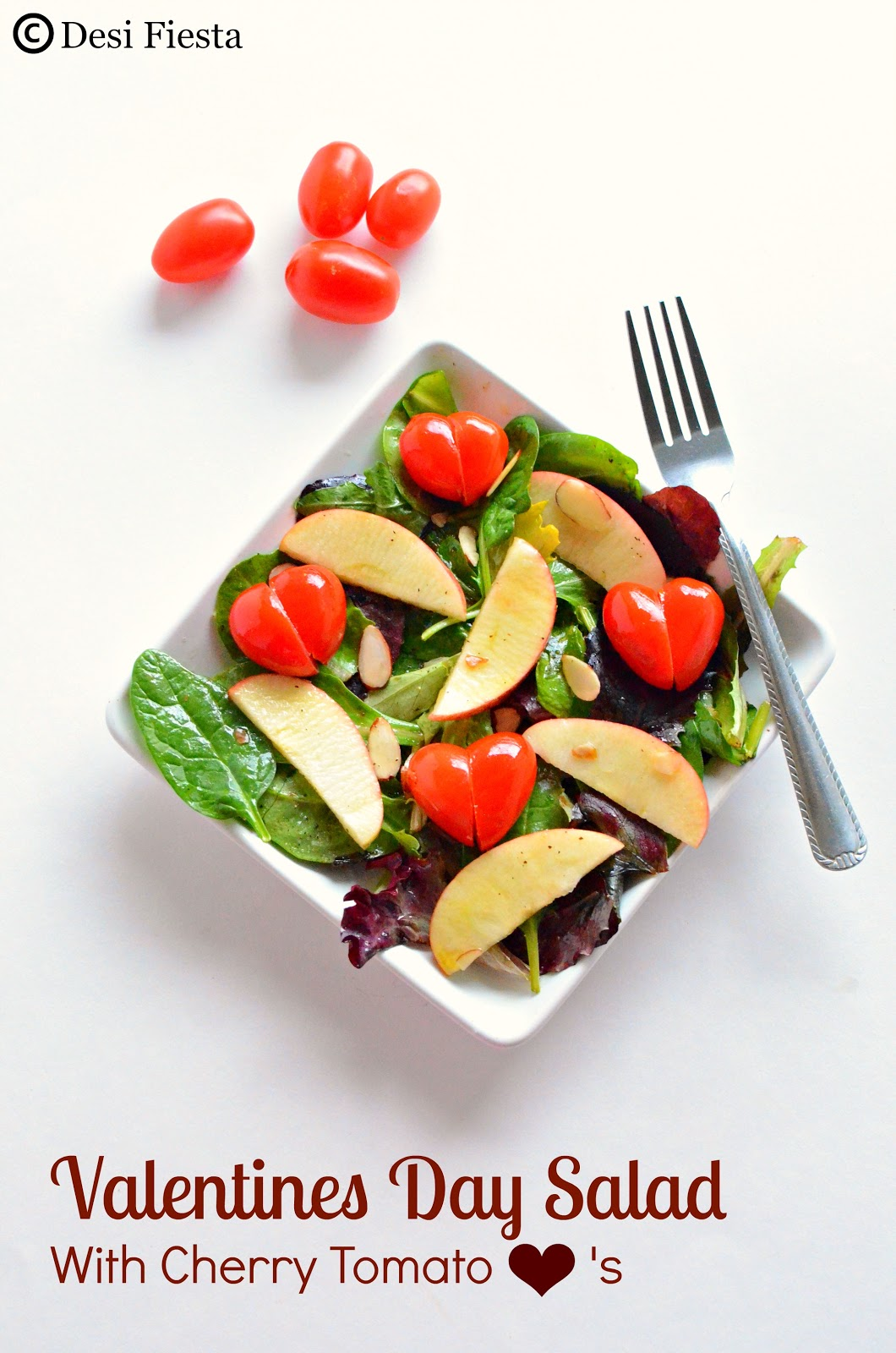 Spring Mix Apple Cherry tomato salad