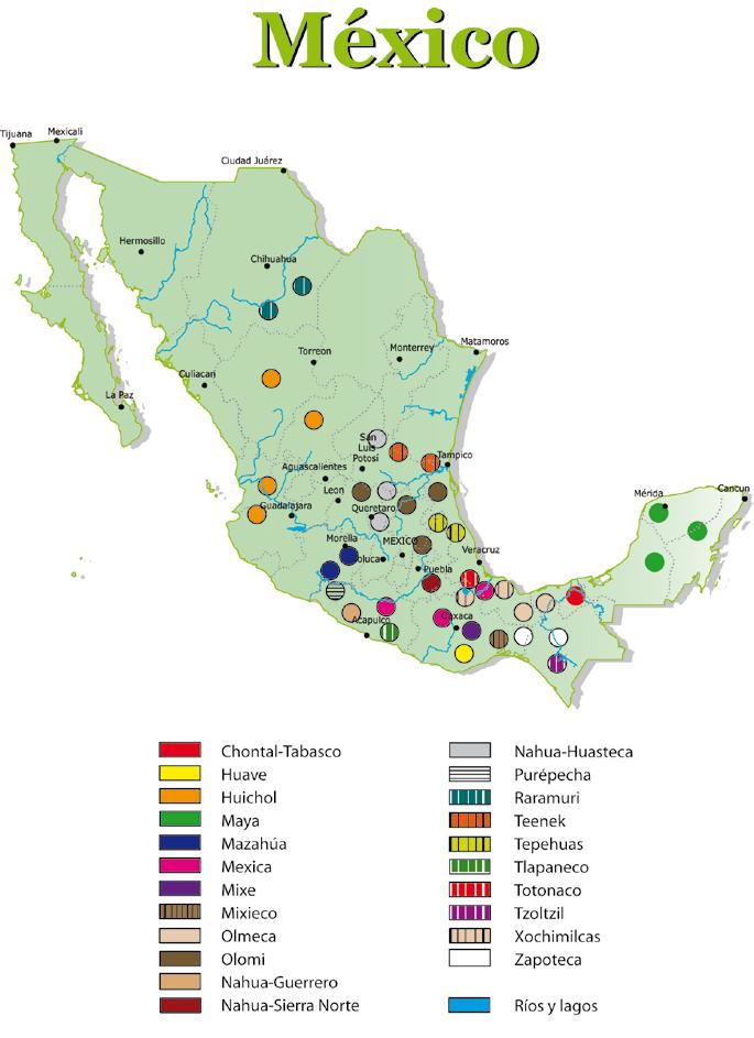 Diversidad cultural de los pueblos indígenas del país.