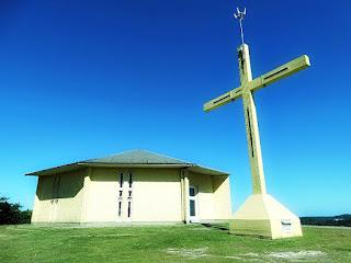 Igreja Nossa Senhora das Dores, no alto do Morro Calvário, em Carlos Barbosa.