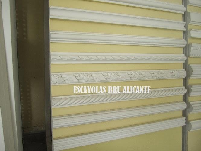 Escayolas bru alicante cenefas baquetones - Escayola decorativa techo ...