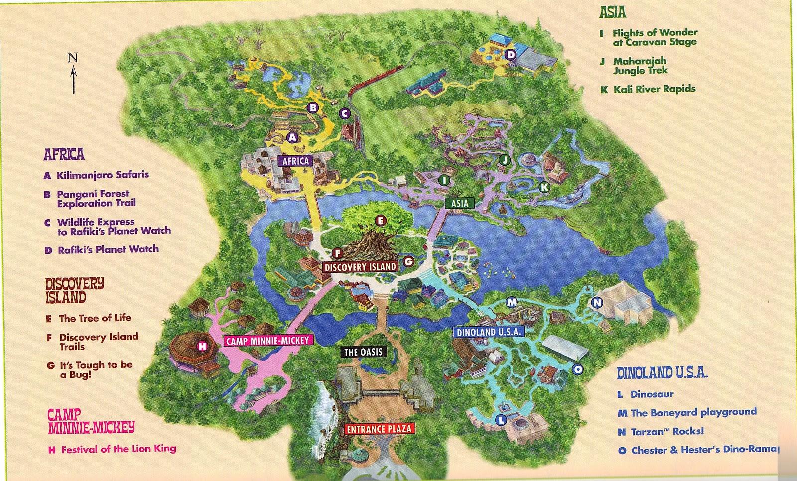 disney animal kingdom map pdf