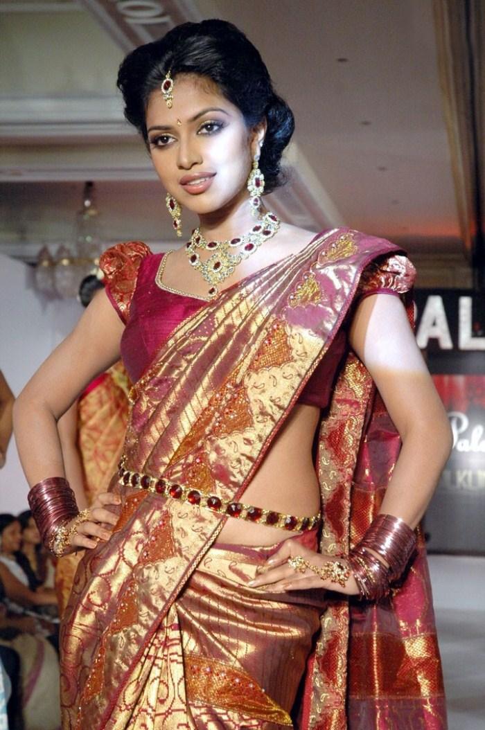 Amala Paul In Saree Palam Silks Fashion Show