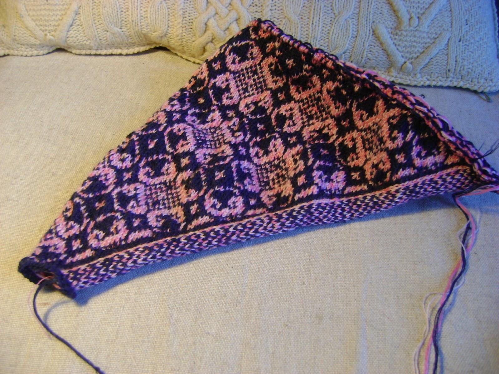 Жаккардовые шали спицами схемы фото