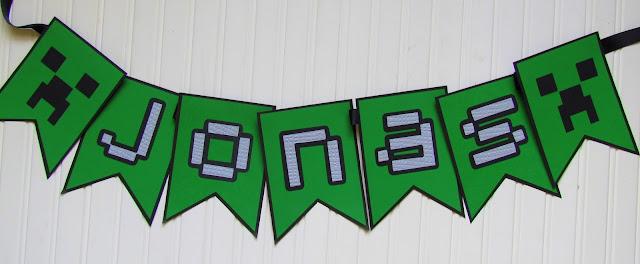Minecraft Party Banner