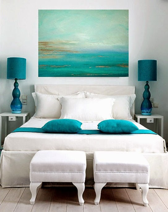 D co chambre zen bleu for Decoration chambre ocean