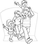 DIBUJOS DE LA FAMILIA PARA COLOREAR PINTAR (familia para colorear pintar )