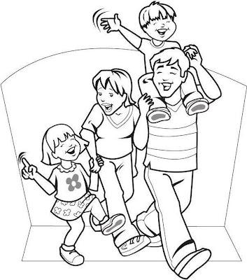 DIBUJOS DE LA FAMILIA PARA COLOREAR PINTAR