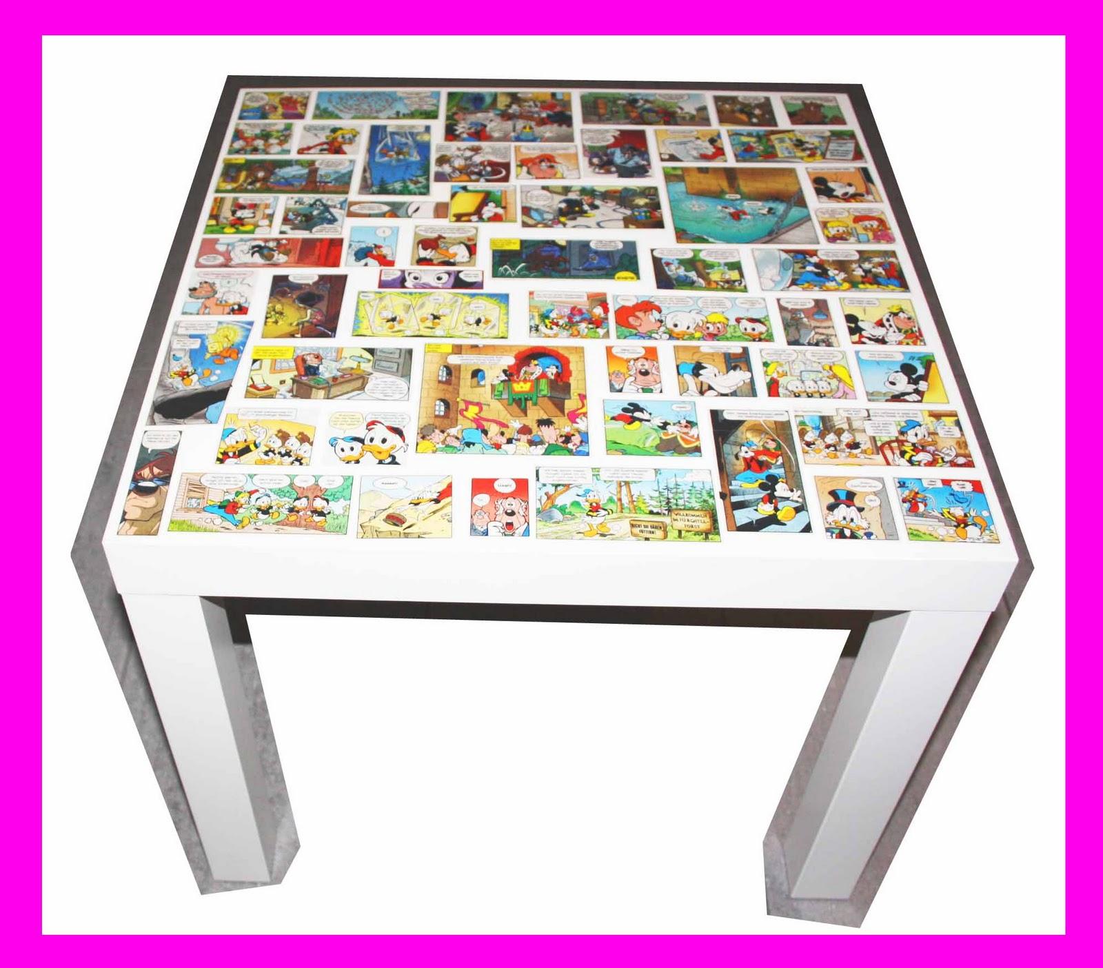 Pejd all about diy diy tisch mit comic auffrischen - Ikea lack tisch umgestalten ...