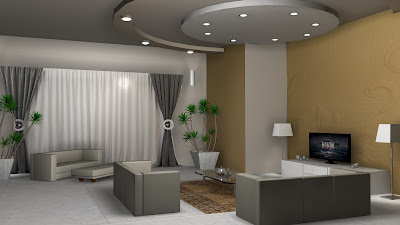 Sajid Designs: Visiting room 3d design max