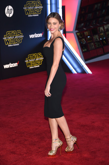 """Actress, Model, @ Sofia Vergara - premiere of """"Star Wars: The Force Awakens"""" in Hollywood"""