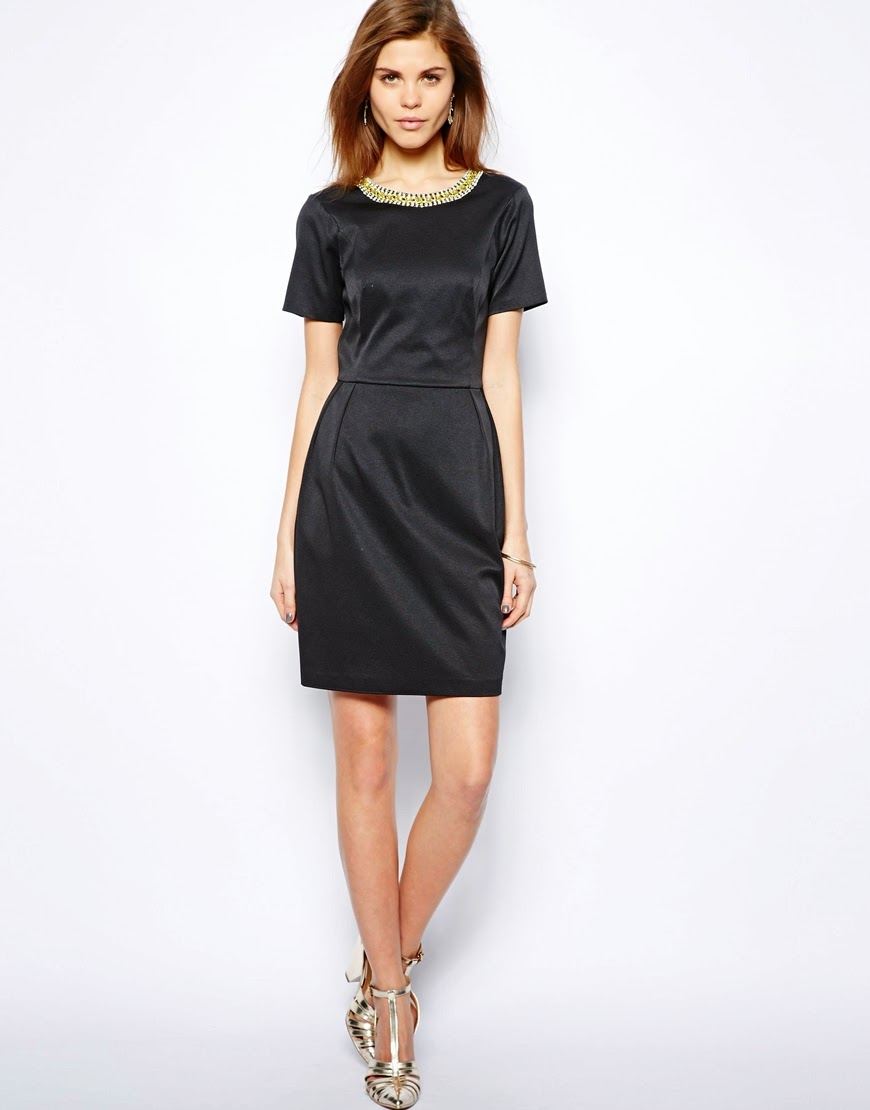 coast black midi dress