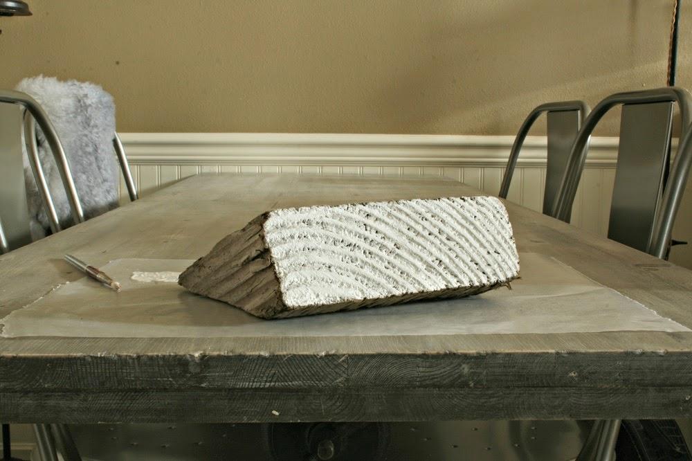 white wood grain, metal chairs