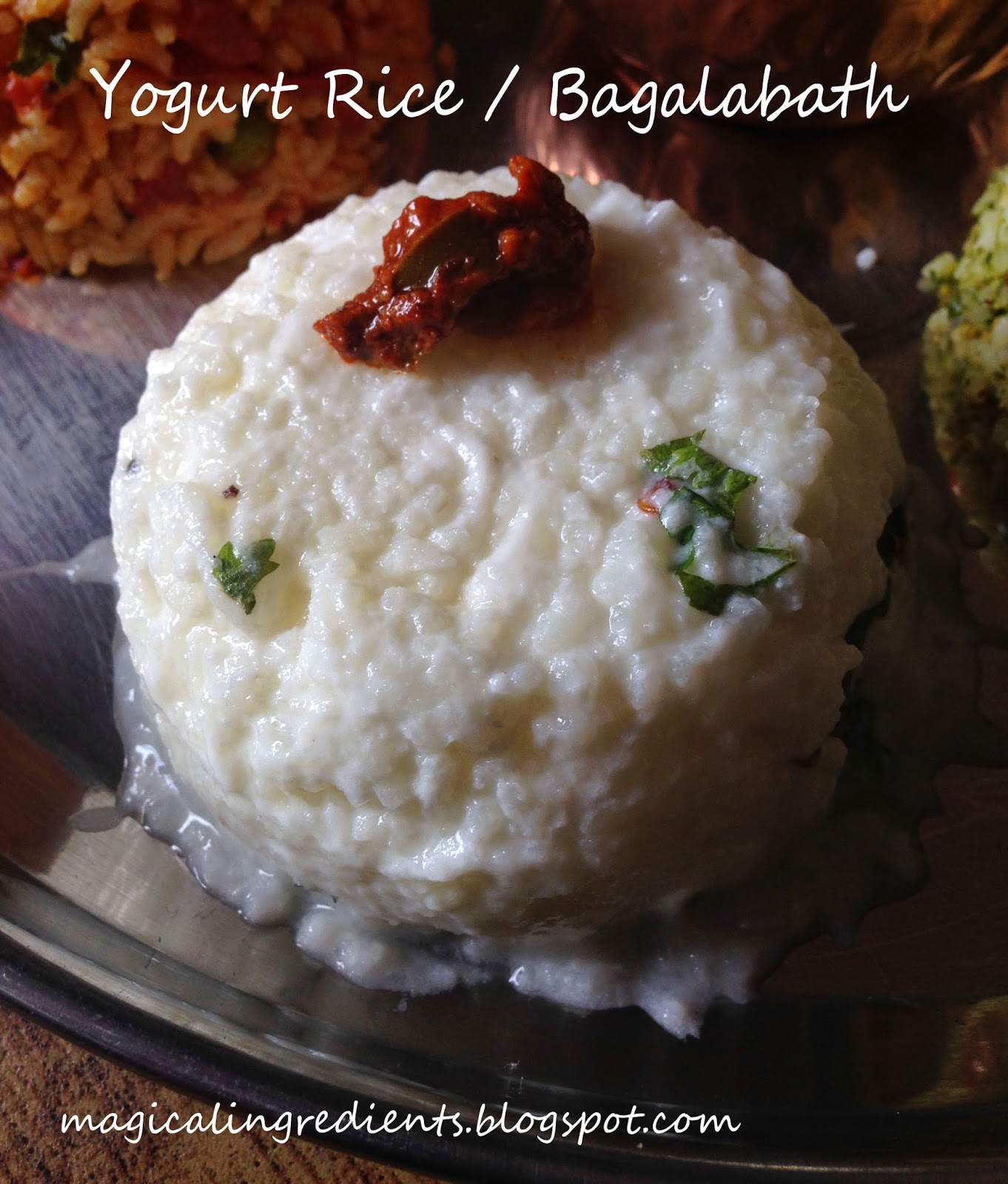 Here I Have The Recipe For Yogurt Rice It Is Very Simple To Make And You  Can Never Go Wrong Making Yogurt Rice It Has All The Goodness Of Yogurt  And Hence