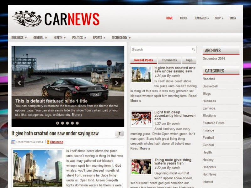 CarNews - Free Wordpress Theme