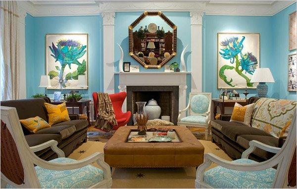 Sala De Estar Azul Com Marrom ~ DECORAÇÃO USANDO A COR AZUL  Cores da Casa