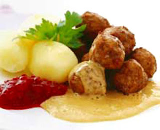 The traditional way of eating the Swedish meatball; with gravy ...