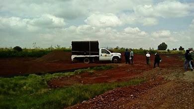 Inspección judicial en obras del NAICM en Tocuila