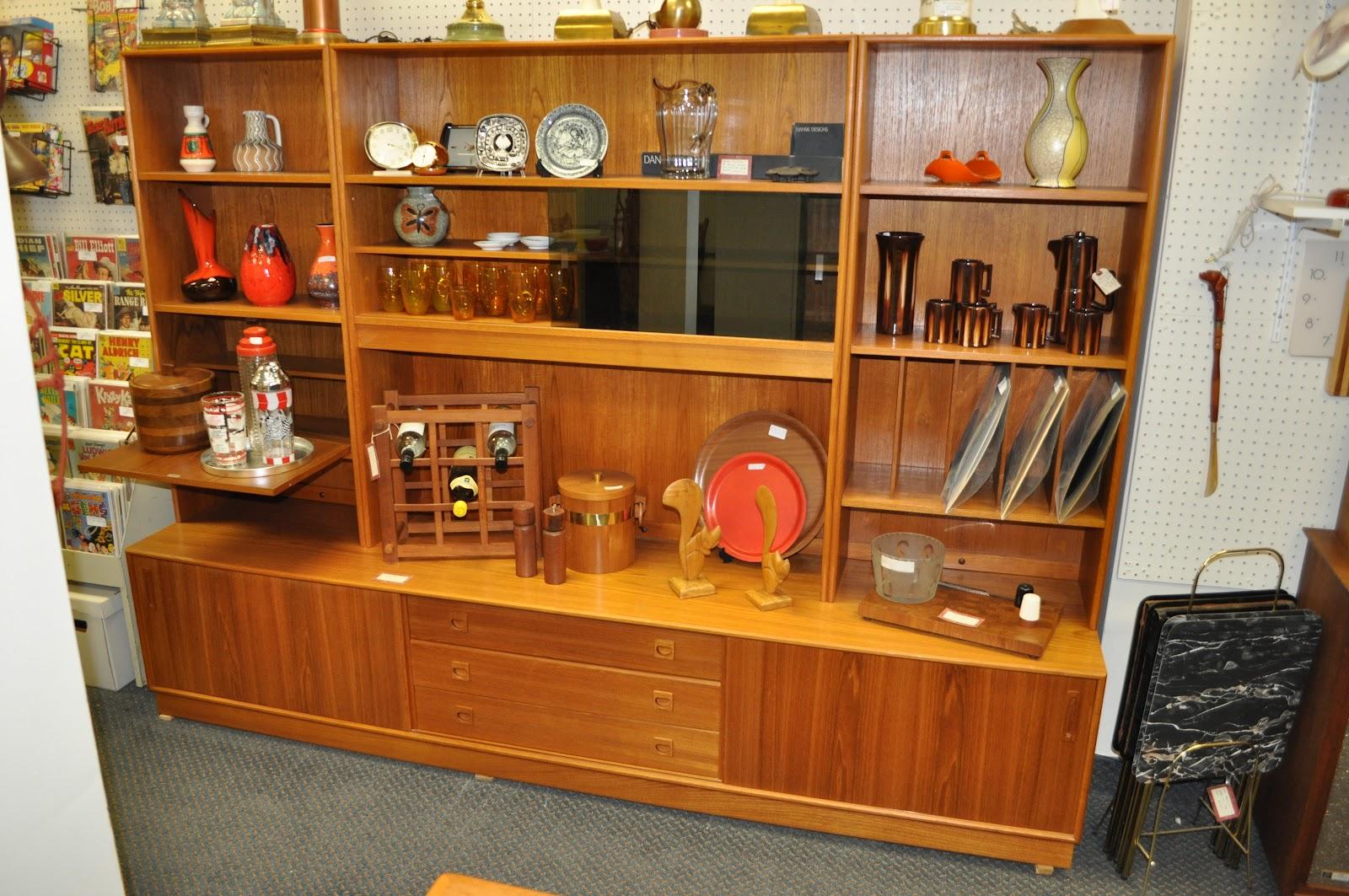 Antiques on kent sold mid century teak wall unit bar for Modern wall bar unit