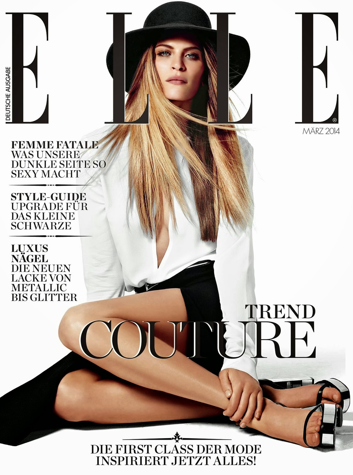 Frankie Rayder Photos from Elle Germany Magazine Cover March 2014 HQ Scans