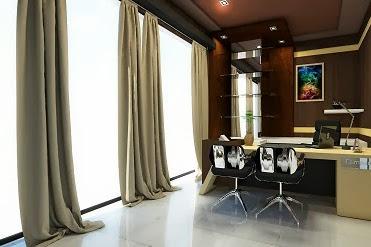 Jasa Desain Gambar Ruang Direktur Interior Kantor yang Cantik Menarik dan Elegan