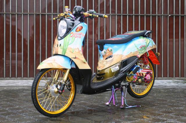 Modifikasi Motor Yamaha Fino Ring 17
