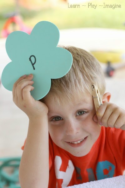 Preschool activity for spring - fine motor alphabet match