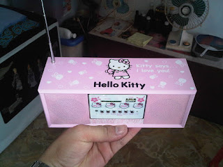 Speaker Portable HELLO KITTY Bisa USB/MEMORY CARD/ DLL Suara JRENG Tp ...