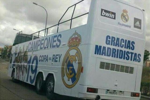 El autobús del Real Madrid se retiró para otra mejor ocasión
