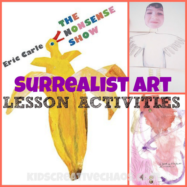 Eric Carle Surrealist Lesson Activities for Art: The Nonsense Show