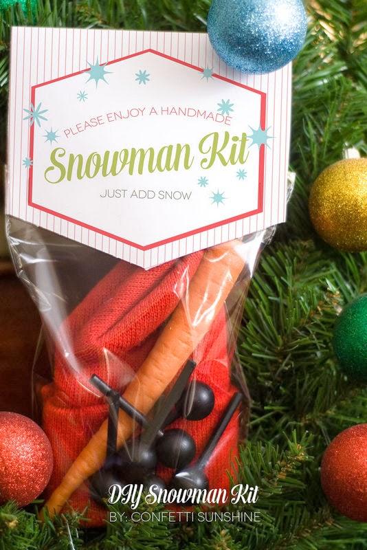 The Party Hop: Handmade Holiday DIY Snowman Kit